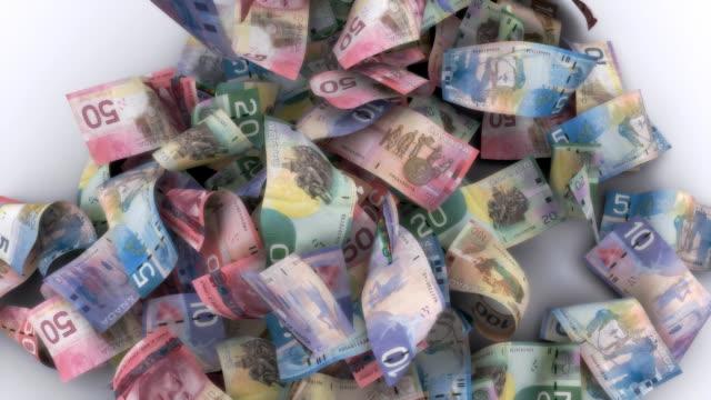 Lots of Falling Canadian Bills video