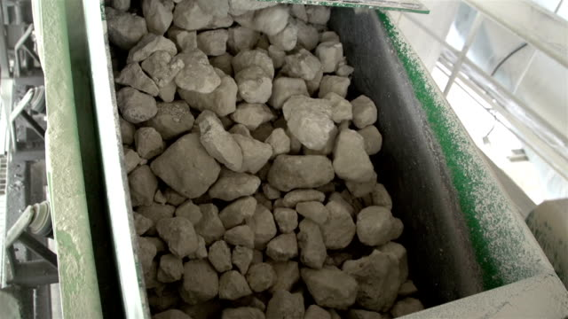 Lots of limestones from a conveyor video