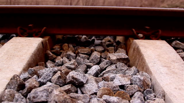 Lots of stones on the railroad video