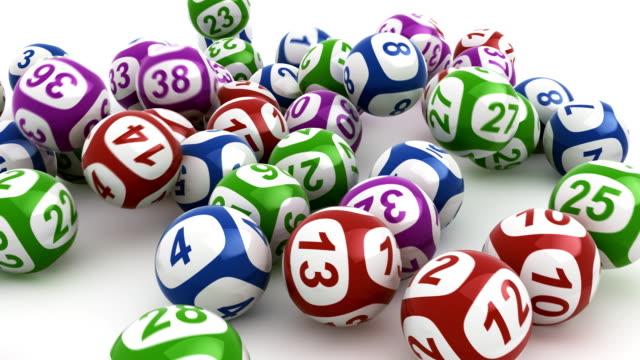 lottery balls falling - lotteri bildbanksvideor och videomaterial från bakom kulisserna