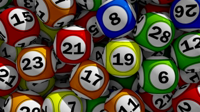 3d lottery balls - bingo video stock e b–roll