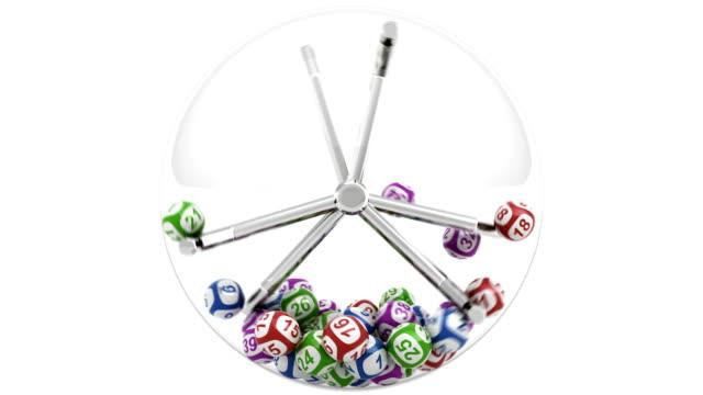 lotterie-maschine - lotto stock-videos und b-roll-filmmaterial
