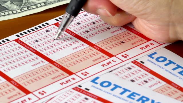 lottoscheine - lotto stock-videos und b-roll-filmmaterial