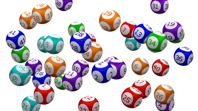 la palla del lotto gira. - bingo video stock e b–roll