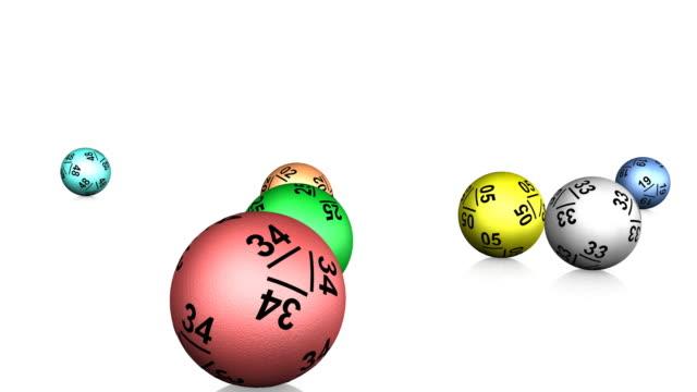 Lotto Balls Bouncing Animation (HD) video