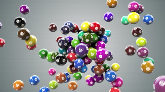 palline di lotto hd - bingo video stock e b–roll