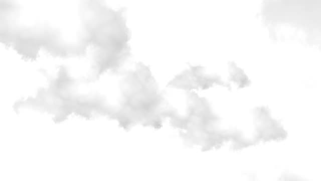 Сlouds isolated on white, with matte. Seamless loop. video