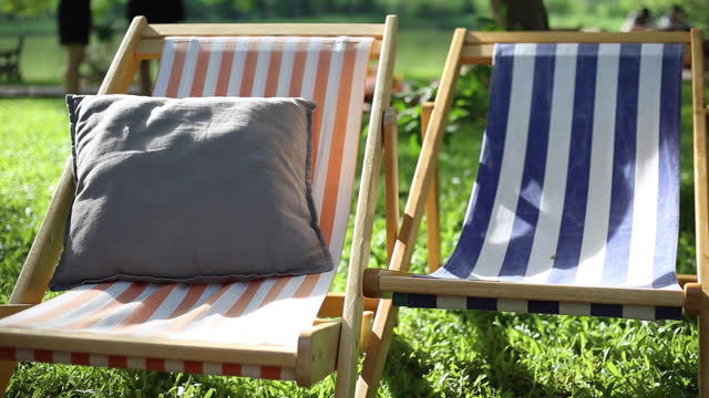 Lounger for relaxation in the garden