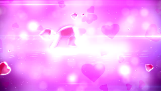 love and hearts background video