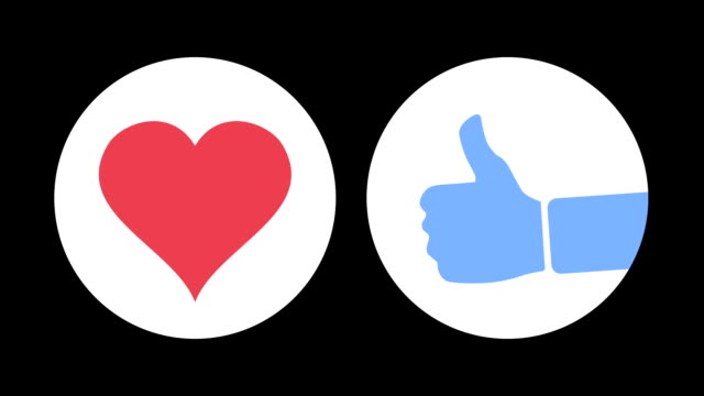 Love and Like Social Media Emoticon Animations video