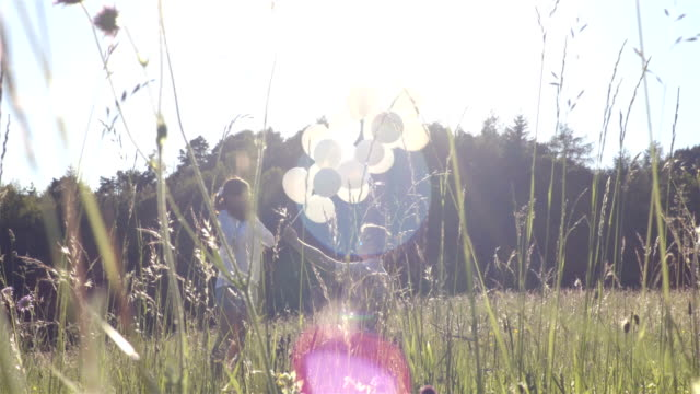 Love balloon story in the field video