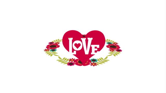 vídeos de stock, filmes e b-roll de cartão de amor, animação de vídeo - clipe