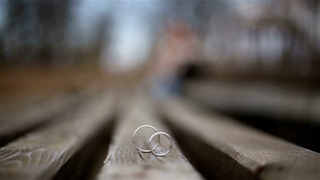 love couple and wedding rings love couple in nature brushed metal stock videos & royalty-free footage