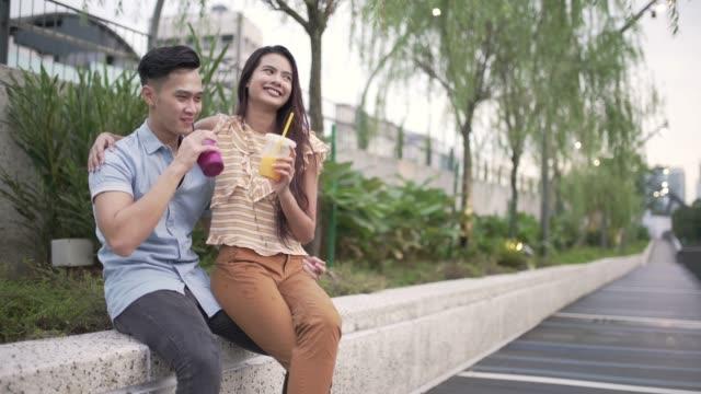 love couple from kuala lumpur - ritemprarsi video stock e b–roll