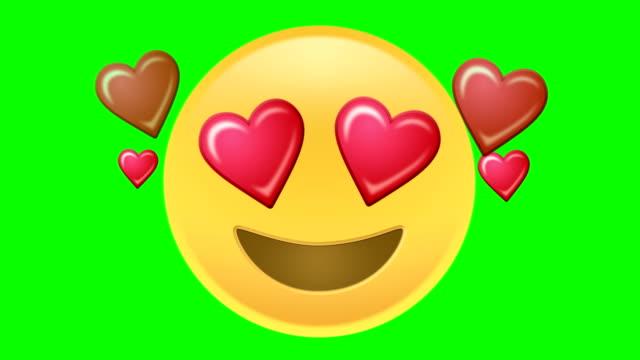 kärlek emoji - hjärtform bildbanksvideor och videomaterial från bakom kulisserna