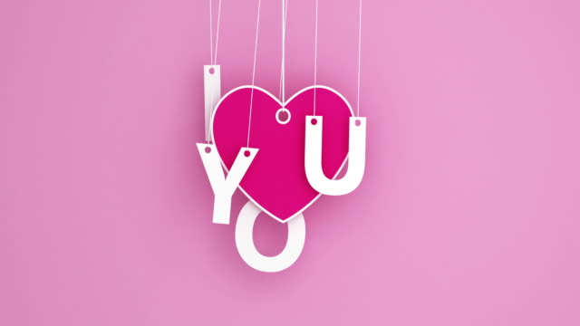 Love - Emotion romance origami pendant swaying video