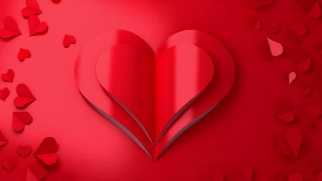 Love - Emotion romance paper cut in bloom video