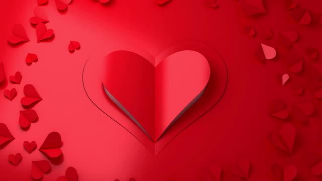 Love - Emotion romance paper cut in bloom with luma matte video