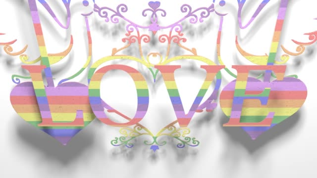 vídeos de stock, filmes e b-roll de amor gay orgulho lgbt comunidade mardi gras papel recorte título 3d render - cisgênero