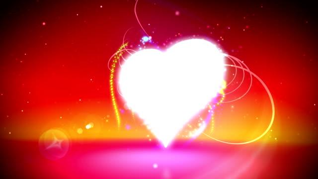 Love heart loop video