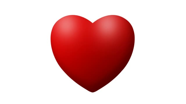 Love heart thumping beating on white background video