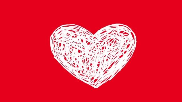 miłość serce - technika ilustracji filmów i materiałów b-roll