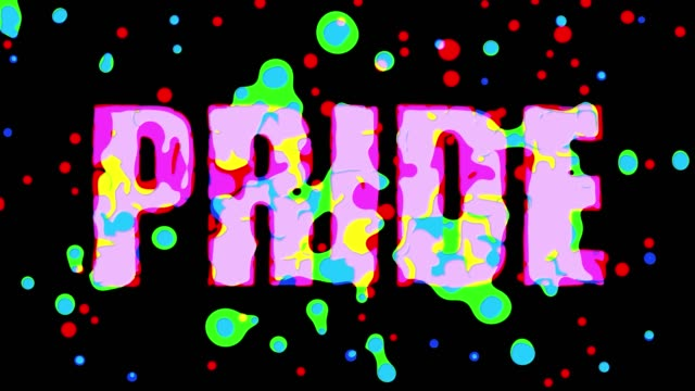 love peace pride colorful animated words