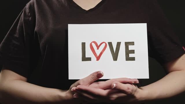 love sign affection care woman hands romantic
