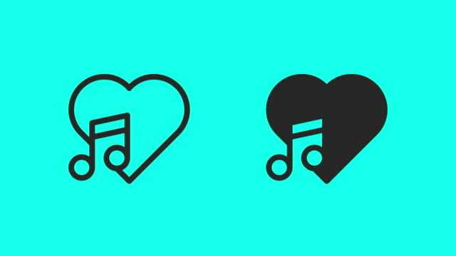 Love Song Icons - Vector Animate