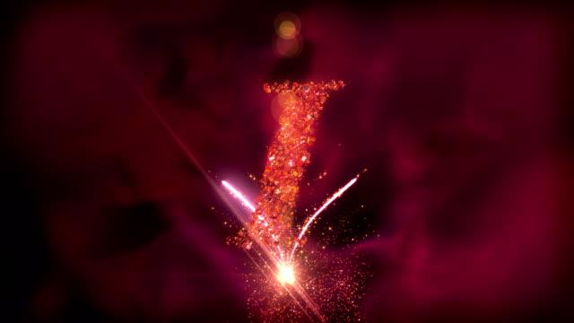 vídeos y material grabado en eventos de stock de hd: i love you en bucle animación - sparks