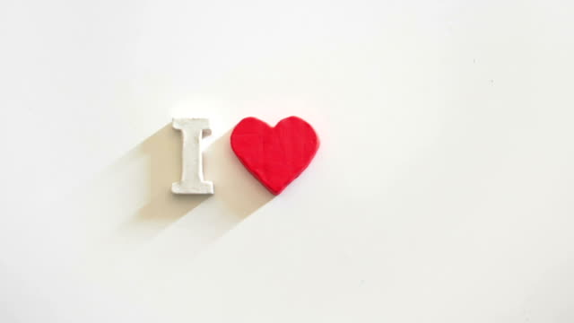 I love you message stop motion animation