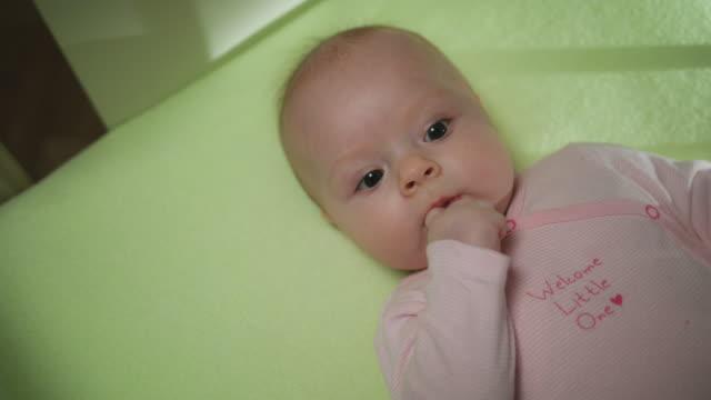 Lovely Baby Sucks Her Finger close-up video