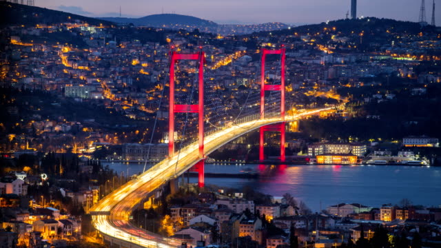 Lovely Istanbul Day to Night 4K UHD Video Time-Lapse of Bosphorus Bridge Lovely Istanbul 4K UHD Video Time-Lapse of Bosphorus Bridge istanbul stock videos & royalty-free footage
