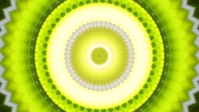 Lovely kaleidoscopic circle pattern like kiwi fruit. video