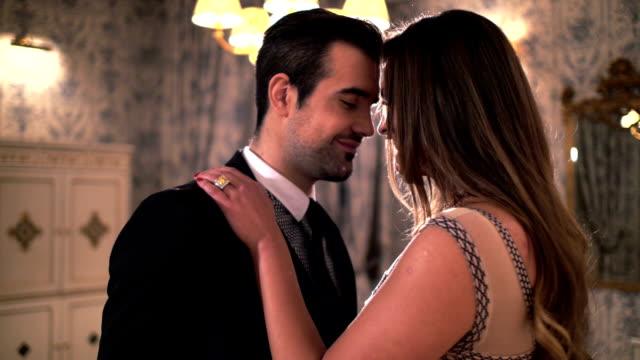 Lovers in hotel room video