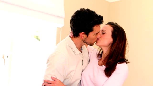 loving couple embracing and hugging - 30 39 år bildbanksvideor och videomaterial från bakom kulisserna