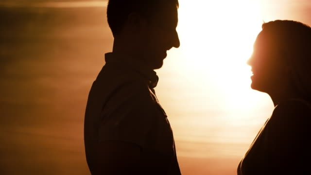 Loving Couple on Date at Dusk video