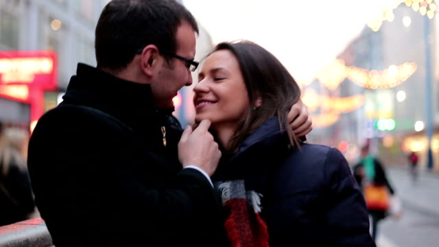 Loving Couple traveling through Austria Video of two people loving each other in Vienna,Austria kissing stock videos & royalty-free footage