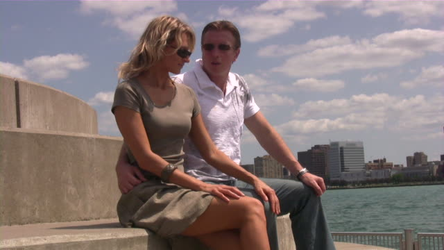 Loving middle age couple. Dating and relationships. Happy young adults. video