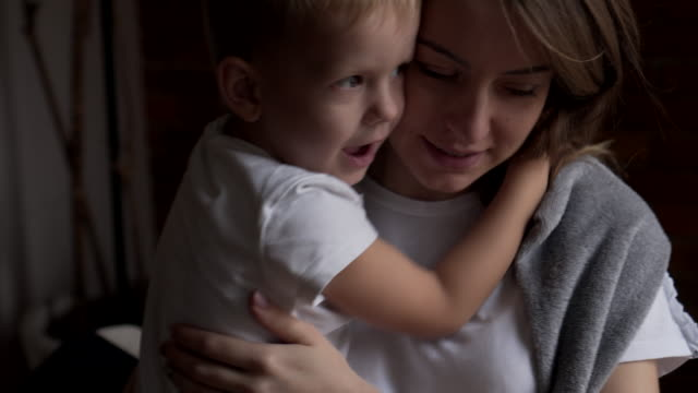 Loving mother and son video