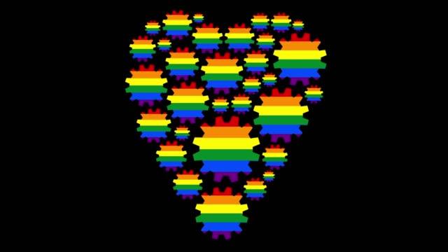 vídeos y material grabado en eventos de stock de amoroso arco iris - coordinación
