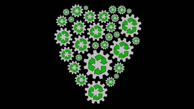 älska återvinning - recycling heart bildbanksvideor och videomaterial från bakom kulisserna
