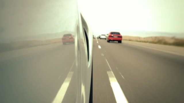 Low Angle Driving on Highway video
