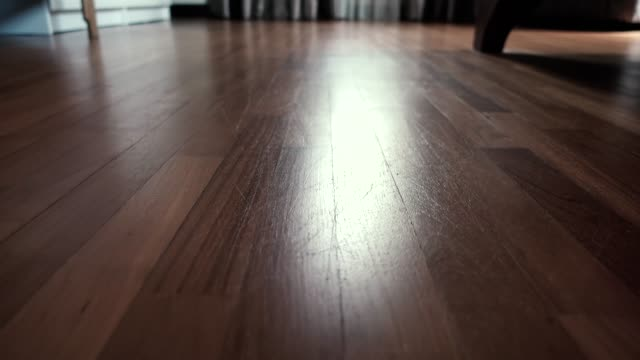 Low Angle Surface Level View of Hardwood Floor Low Angle Surface Level View of Hardwood Floor. low angle view stock videos & royalty-free footage