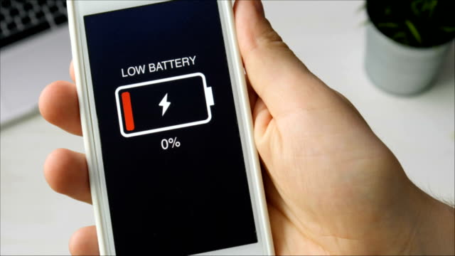 Low battery indication on the smartphone