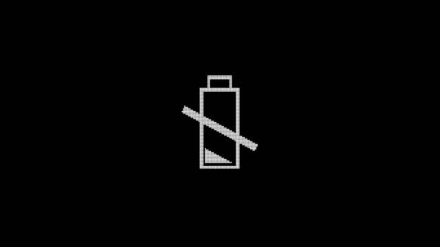 schwache batterie warnung 4k - niedrig stock-videos und b-roll-filmmaterial
