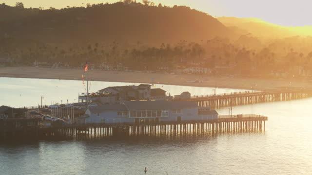 Low Drone Flight Around Stearns Wharf, Santa Barbara video
