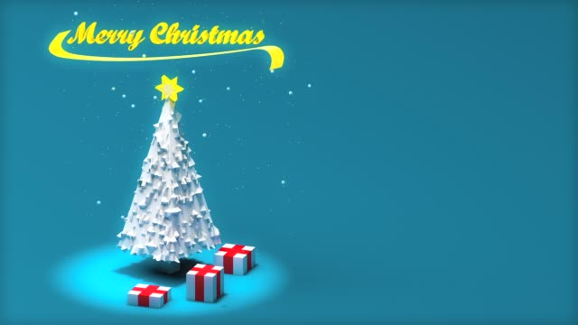 Low poly christmas tree video