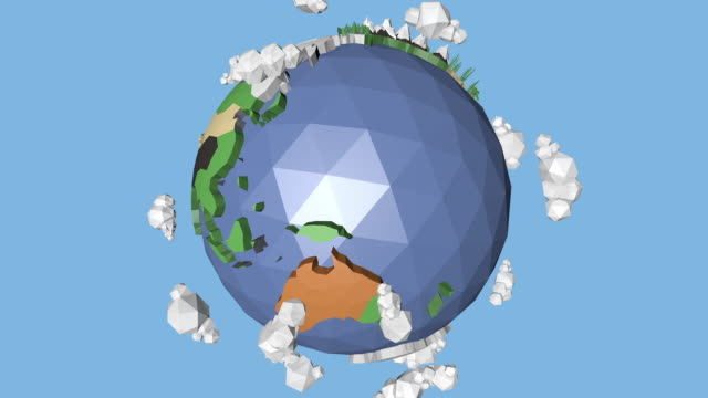 A 360 Low Poly Earth Loop