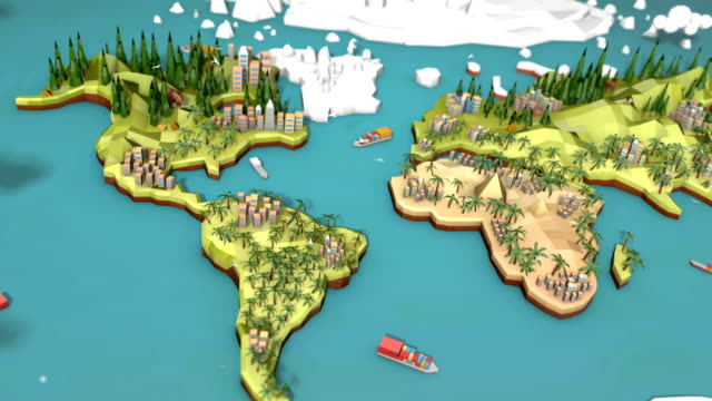 Low Poly Earth - North America video